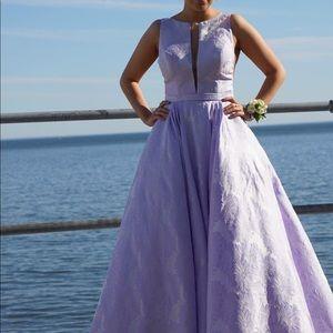 Sherri Hill Lilac Prom Dress